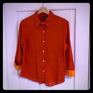 Gap Red Button Down Shirt